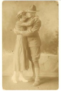 Ethel Leona Evans and Pvt. Thomas Newton Bryson, both of Macon County, N.C., ca. 1917