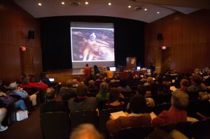 Photo shows a large crowd at Home Movie Day 2013, the most successful yet.
