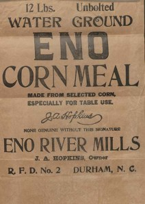 Trademark Application: J.A. Hopkins for Eno Corn Meal.