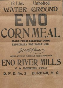 Trademark Application: J.A. Hopkins for Eno Corn Meal.