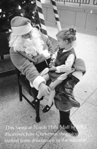 Mall Santa at North Hills, Raleigh, NC, 1967