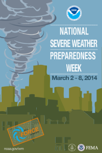 National Severe Weather Preparedness Week poster for 2014