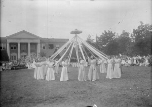 May Day, May Pole dance, no date (1920's-1930's). From the Dunn Area (Lewis White Studio) Photo Collection, PhC.121, State Archives of North Carolina, Raleigh, NC.