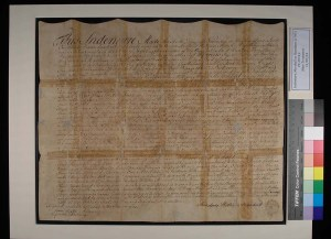 1797 Indenture from PC.2074.2 after tape removal treatment.