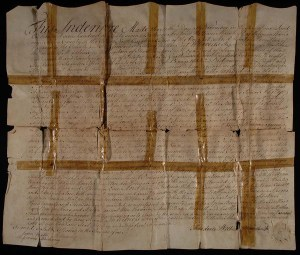 1797 Indenture from PC.2074.2 before tape removal treatment.