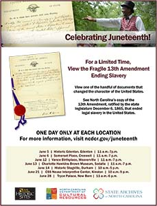Flyer for the Juneteenth Tour of Fragile 13th Amendment