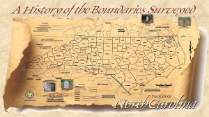 """Map graphic for FOA talk """"History and Reestablishment  of the NC-SC Boundary""""  by Presented By Gary W. Thompson"""