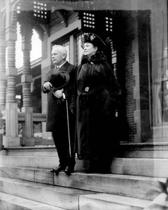 Governor and Mrs. Bickett at the Governor's Mansion; from the Albert Barden Collection, State Archives of North Carolina