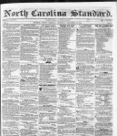 Front page of the North Carolina Standard, Sept. 27, 1851.