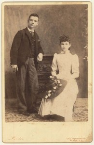 Photograph of Will Tarkington and Mamie Lougee. Call number: PhC_160_4_24