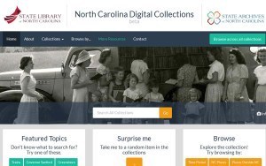 See the beta version of the new North Carolina Digital Collections
