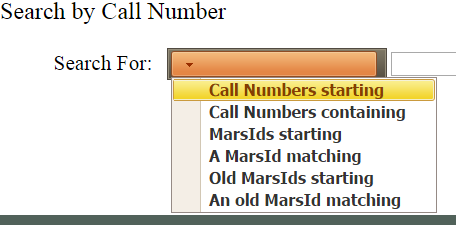 Call numbers starting