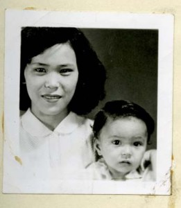 "Photograph of Yoshiko M. ""Nancy"" Brogden, originally of Okinawa, Japan, and her daughter from her entry in the Wayne County Alien, Naturalization and Citizenship Records"