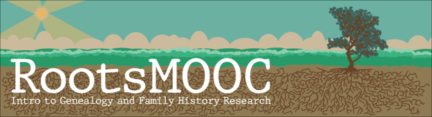 banner for RootsMOOC: Free Online Genealogy Course