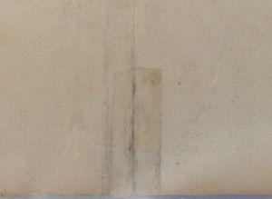 Historic paper repair on MC.150.1775m, c. 2