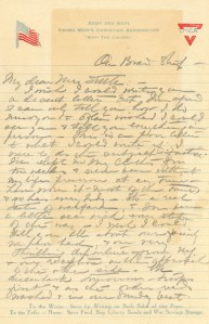 Letter: May Frances Jones to Mrs. Thomas Settle, November 8, 1918 (Call no. MilColl.WWI.PC.18)