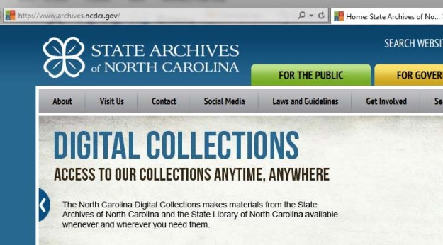The State Archives has a new web address: archives.ncdcr.gov