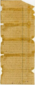 First page of a letter from Martha Hendley Poteet to Francis Marion Poteet, June 16, 1864