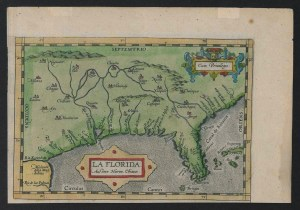 La Florida Map, 1584, Map Collection, Outer Banks History Center.