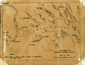Map: Locations of Proposed Bombing Location, Albemarle Sound, Date: Undated [ca. 1940s]