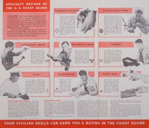 """Piping All Hands for the U.S. Coast Guard"" Recruitment Booklet, Date: 1942"