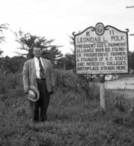 Polk Denmark at L.L. Polk Historic Hwy. Marker, Polkton, N.C., 1948