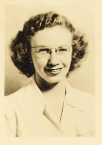 Small head shot of Ruth Peeling ca. 1947–1948