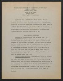 N.C. Division of Parks and Recreation Records, State Parks Division, General File, Reports to Board of Conservation and Development, 1940