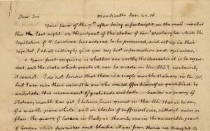Thomas Jefferson, Monticello, January 22, 1816, to Nathaniel Macon