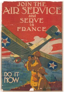 "World War I poster: ""Join the Air Service and Serve in France--Do it Now"""