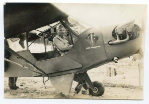 Photo of Col. Richard Hunt in an airplane