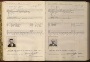Page from Alamance County Alien Registration Records, 1940