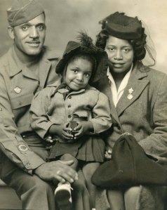 Veteran of Rockingham County, Levoir Lindsey, his wife, Viola, and daughter, Betty.