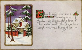 1920 Christmas postcard sent to Mr. and Mrs. James J. Towler, Raleigh, North Carolina PC.1995. B11.F6.A [front]