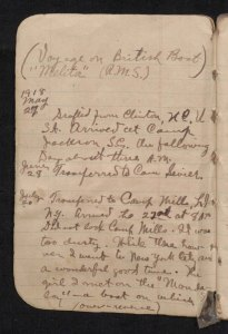Isham B. Hudson's war diary contains short entries covering his military unit's movements throughout France in the fall of 1918 (Call number: WWI 49). Learn more about this item in the North Carolina Digital Collections.