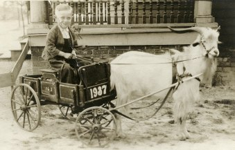 PhC.24.21 An unidentified boy is seen in a goat cart c. 1937