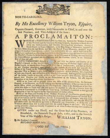 William Tryon Proclamation